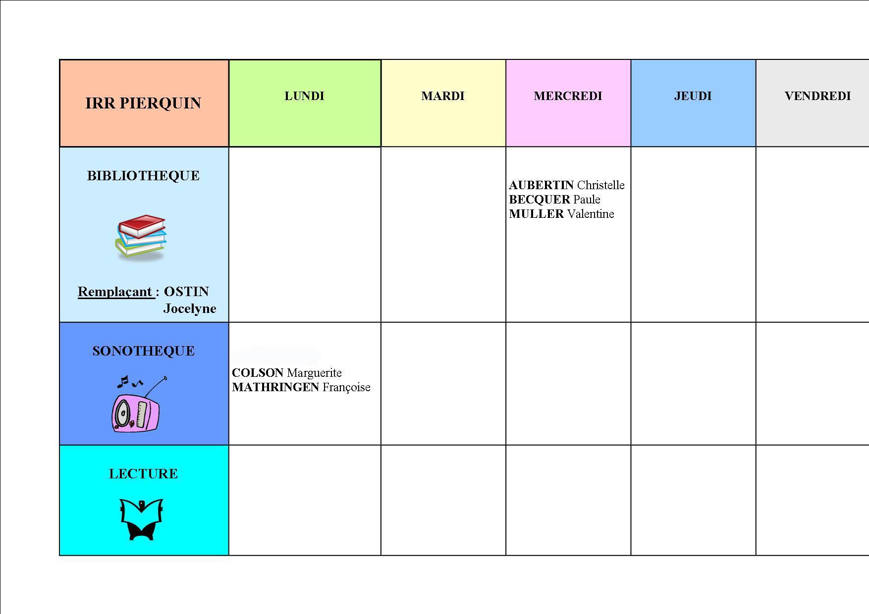 Planning Pierquin